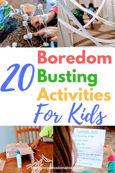 Super simple and super fun indoor activities for toddlers, preschoolers and school age children! These boredom busting activities are perfect for rainy days or snow days! activities for school age kids 20 Indoor Activities for Kids - Organizational Toast Rainy Day Activities For Kids, Indoor Activities For Toddlers, Summer Activities, Kids Fun, Rainy Day Fun, Family Fun Activities, Outdoor Activities, Activities For 6 Year Olds, Busy Kids