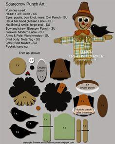 Alex's Creative Corner: Scarecrow punch art instructions