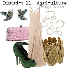 District 11 : Agriculture. I like the dress, the shoes don't go with it though.