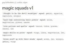 Magic Squads... | Devil worshiper squad with magic skills on point #Capricorn sounds like a dangerous combo