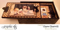What a fantastic An ABC Primer pencil box and mini album by Clare #graphic45