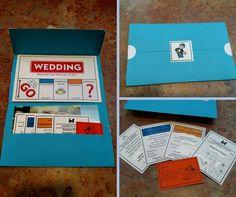 Monopoly wedding invites