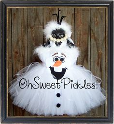 Deluxe - OLAF FROZEN Inspired - Halloween Costume Tutu Dress & Headband - Sizes 0, 3, 6, 9, 12, 18, 24 Months, 2t, 3t, 4t, 5t