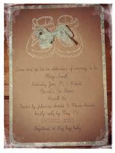 baby shower invitations shabby