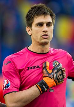 Romanian goalkeeper Ciprian Tatarusanu pictured during the UEFA Euro 2016 Group A match between Romania and Albania at Stade de Lyon in Lyon France. Uefa Euro 2016, Albania, Lyon France, Goalkeeper, Football Players, Group, Sports, People, Mens Tops