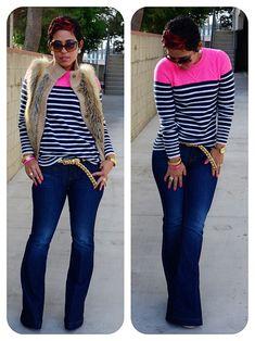 OOTD: Best Sweater Ever + Faux Furs + Wide Legs @ www.mimigstyle.com (minus the vest!)
