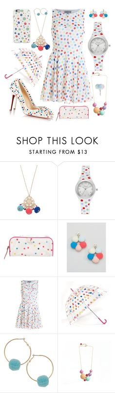 """pastel polka dot set"" by potterfluff7 ❤ liked on Polyvore featuring Mudd, Vivani, Kate Spade, ASOS and Humble Chic"