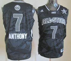 91c611b80 Adidas NBA 7 Carmelo Anthony All Star 2013 Fashion Swingman Black Jersey  Nba New York