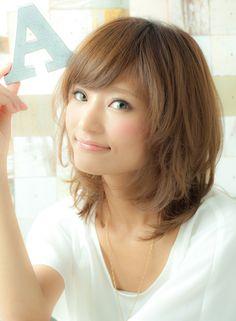 大人女子が高支持!ヌーディーピュアミディ 【MINX harajuku】 http://beautynavi.woman.excite.co.jp/salon/3381?pint ≪medium・hairstyle・ミディアム・ヘアスタイル・髪形・髪型≫