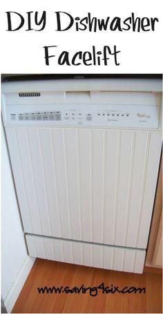 DIY Dishwasher Facelift! #kitchen #dishwashers