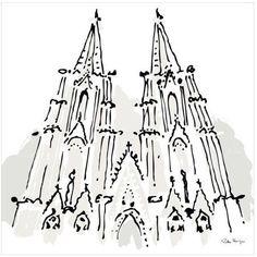 Notre Dame, Paris by Eazl Canvas Poster, Size: 16 x 16, Multicolor