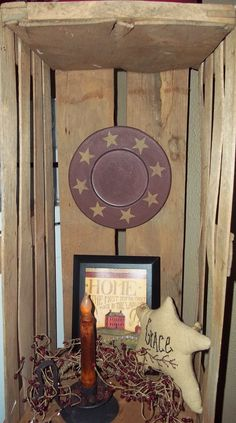 I have old crates all over my house.  Never thought about hanging a plate.