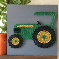 12 Tractor String Art by LadamsLane on Etsy