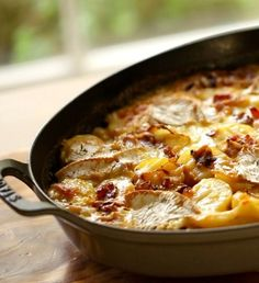 Easy tartiflette recipe originating from France. A decadent French Potato Casserole that makes a fantastic holiday side dish! INCLUDES RECIPE VIDEO TOO! Holiday Side Dishes, Thanksgiving Side Dishes, Thanksgiving Recipes, Holiday Recipes, Christmas Recipes, Easter Recipes, Cookbook Recipes, Wine Recipes, Cooking Recipes