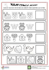 Pin On Worksheet For Kids Valentine day worksheets for toddlers