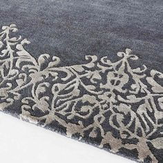 Tapis à poils courts en laine gris 140 x 200 cm ARABESQUE
