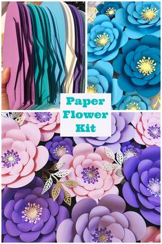 #paperflowerbackdrop #paperflowerwall #paperflowertutorial Paper Flower Wall, Paper Flower Backdrop, Flower Wall Decor, Paper Flowers Diy, Diy Paper, Paper Crafts, Flower Decorations, Girl Birthday Themes, Girl Themes