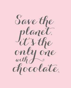 #chocolate #savetheplanet @emilyschocolates