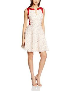Vestido corto sin mangas de color crema y rojo por la parte de arriba en la espalda.  Visitanos para ver la galeria de fotos.  Disponible en nuestra tienda online : kmepongo.com