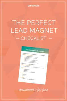 Learn how to market your product or course online using mouth watering lead magnets that boost traffic and convert visitors into loyal customers. Includes examples of effective lead magnets. Click to download the checklist now!