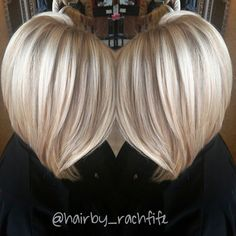 Obsessed with icy blondes and obsessed with long bobs! Perfect combo! Hair by Rachel fife @ Sara Fraraccio salon