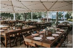 NC Wedding Venue - Mims House | Reception dinner on the patio