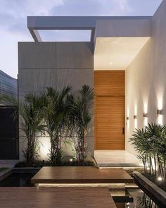 luxury houses Get a discount for any houses by registering to Airbnb ! (More than 50 ) For a limited time ! Modern Entrance Door, House Entrance, Villa Design, House Front Design, Modern House Design, Modern Architecture House, Architecture Design, Dream House Exterior, Facade House