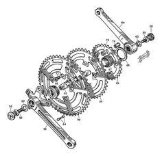 Stronglight Model 99 _ Triple crankset _ Rebour illustration by stronglight, via Flickr