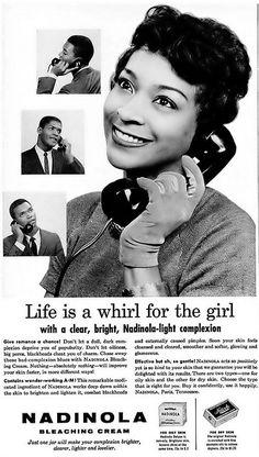 Nadinola Bleaching Cream Advertisement - Ebony Magazine, May, 1960 | Flickr - Photo Sharing!