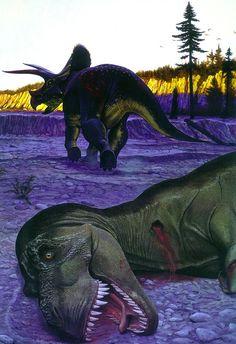 Riojasaurus por Wayne Barlowe. Dinosaurios y otras