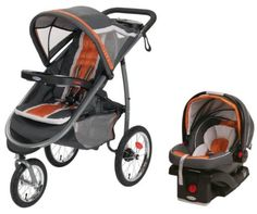 Amazon.com: Graco FastAction Jogger Baby Stroller  SnugRide Car Seat Travel Set - Tangerine: Baby