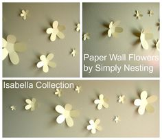 Paper Wall Flowers... Set of 10...Isabella by SimplyNesting, $11.00