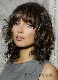 Medium Lose Curly Haircuts 20 Most Popular Medium Curly Wavy Hair Styles For Women, Perfectly Loose Curly Hairstyle For Medium Hair Popular Haircuts, 35 Medium Length Curly Hair Styles Hairstyles Haircuts 2016 Shoulder Length Layered Hair, Layered Hair With Bangs, Medium Length Hair With Layers, Medium Layered Haircuts, Curly Hair With Bangs, Haircuts For Curly Hair, Curly Hair Cuts, Medium Hair Cuts, Short Curly Hair