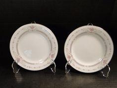 """Noritake Benton Dinner Plates 6204 10 1/2"""" TWO EXCELLENT! #Noritake"""