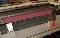 Using Ribber comb on main bed - Silver Reed Knitting Machine