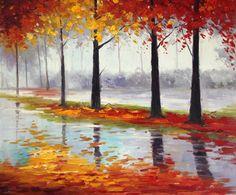 Handpainted Landscape oil painting Impressionist art canvas painting X142 #Impressionism