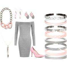 Pink and Grey by eastlyn-megan on Polyvore featuring ALDO