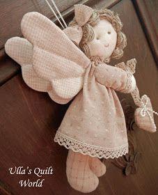 anjo de tecido com molde e PAP (DIY)