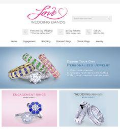Magento Website Upgradation for Jewelry Industry in USA - LoveWeddingBands Diamond Wedding Rings, Diamond Rings, Wedding Bands, Personalized Jewelry, Wedding Engagement, Ecommerce, Jewelry Rings, Jewelry Design, Gems