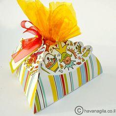 12 Mishloach Manot package Hamantaschen design by HavaNagila, great gift basket for purim!  ₪34.90
