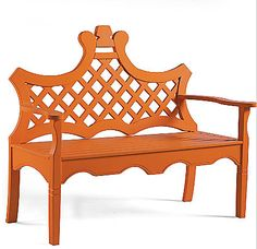 Pagoda Perfection / The English Room Blog | orange bench | LFF Designs | www.facebook.com/LFFdesigns