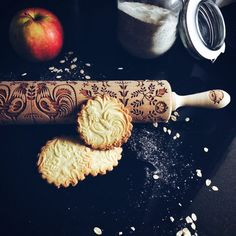 FOLK rolling pin embossing rolling pin engraved by GOODYWOODYcompl