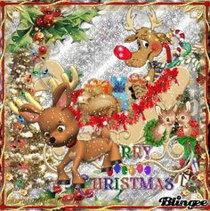 Merry Christmas Rudolf The Reindeer/ GIF lot's of animation and glitter  http://bln.gs/b/27kv7d