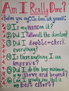 I will use this picture in my classroom to encourage my students to double check their work.