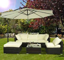 Outsunny 6pc Outdoor Patio Rattan Wicker Sofa Sectional Garden Furniture Set