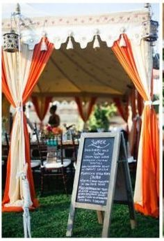 Draped tent in the summer? modern jewish wedding reception dinner // : jewish wedding tent - memphite.com