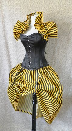 Black and Yellow Circus Bustle by Alice and Willow on Etsy