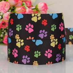5yards 1.5'38mm Cartoon Dog Paw Printed Gift Grosgrain Ribbon -- Details can be found by clicking on the image.