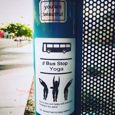 Yoga everywhere, anytime. #yogiswithheart #yogiswithmigraines #yogaeveryday…