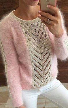 Вязание оригинального пуловера спицами